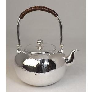 銀製 銀瓶 丸型槌目打 5寸 約1.2L|kana7