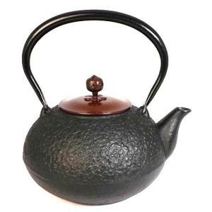 南部鉄瓶 鉄瓶 南部鉄器 梅丸子 黒 銅蓋 1.2L|kana7
