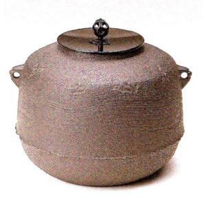 茶道具 風炉 真形釜 羽落無地4-1
