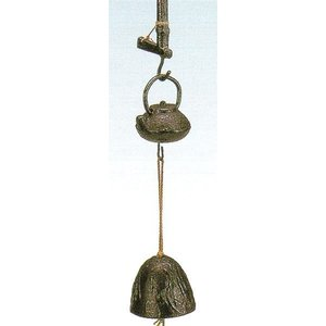 南部鉄 南部鉄器 手作り 鉄 風鈴 南部風鈴 自在カギ 小 高さ110mm|kana7