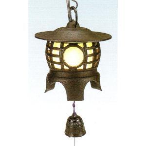 南部鉄 南部鉄器 手作り 鉄 風鈴 南部風鈴 吊灯篭 丸型 電球・コード付|kana7