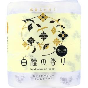 トイレットペーパー おしゃれ 四国特紙 白檀の香り ふんわり ダブル 30m×4ロール|kanaemina