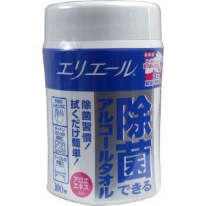 ウェットティッシュ エリエール 除菌できるアルコールタオル アロエエキス入 本体 100枚入|kanaemina
