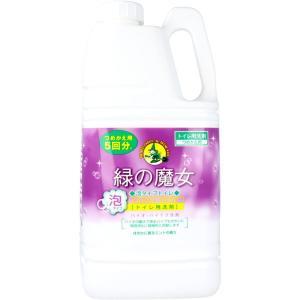 緑の魔女 トイレ用洗剤 泡タイプ 詰め替え用 約5回分 2L バイオ ハイテク洗剤|kanaemina