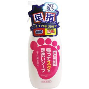 足のにおい対策 臭い消し 石鹸 足洗用ソープ 薬用柿渋 帰ってスグの足洗い 250ml 体臭予防|kanaemina