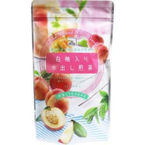白桃入り水出し煎茶 静岡県産茶葉&国産白桃使用 水出しティーバッグ 3g×20包入|kanaemina