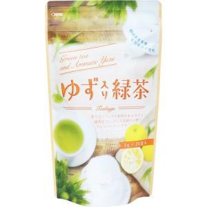 ゆず入り緑茶 静岡県産茶葉 国産ゆず使用 ティーバッグ 3g×20包入|kanaemina