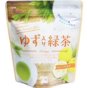ゆず入り緑茶 静岡県産茶葉 国産ゆず使用 ティーバッグ 3g×10包入|kanaemina