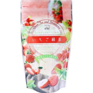 いちご緑茶 国産緑茶 国産イチゴ使用 水出しティーバッグ 3g×20包入|kanaemina