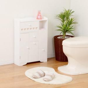 トイレ収納ラック 収納棚 キャビネット トイレットペーパー ストッカー かわいい おしゃれ 多機能 完成品|kanaemina