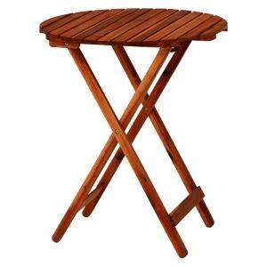ガーデンテーブル サイドテーブル 木製 アカシア材 天然木 折りたたみ|kanaemina