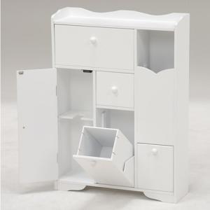 トイレ収納ラック 幅45cm 薄型/スリム/大容量 ホワイト|kanaemina