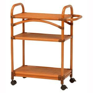 キッチンワゴン キャスター付き ラタン製家具 籐製 軽量 軽い 丈夫 作業台|kanaemina