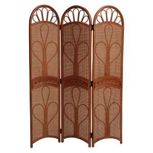 衝立 3連パーテーション 仕切り ラタン製スクリーン 籐製 ラタン製家具 高さ140cm|kanaemina