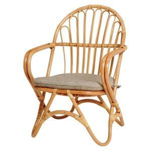 ラタンチェアー 籐チェア いす 椅子 イス 籐製 ラタン製家具 幅55cm 座面高さ35cm|kanaemina