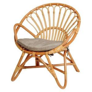 ラタンチェアー 籐チェア いす 椅子 イス 籐製 ラタン製家具 幅60cm 座面高さ33cm|kanaemina