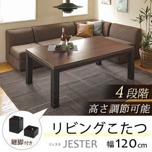 リビングこたつ センターテーブル 長方形 120x80cm 4段階高さ調節 ソファー ローソファ 座椅子対応 kanaemina
