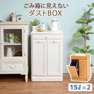分別ペールカウンター 2分別ダストボックス 15リットル キッチン用ゴミ箱 幅47cm 高さ71cm|kanaemina
