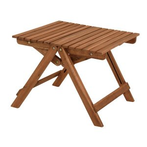 ガーデンテーブル ミニテーブル 木製 折りたたみ 天然木 アカシア材 幅50 高さ39cm|kanaemina