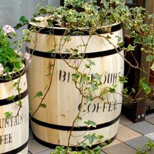 コーヒーバレル コーヒー樽 珈琲タル ディスプレイラック ガーデン樽 木製 大 kanaemina