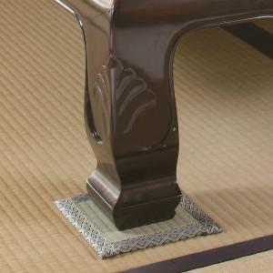 座卓敷き い草 テーブルの下敷き 4枚セット 畳のへこみ防止 傷み キズ 凹み防止 畳保護マット