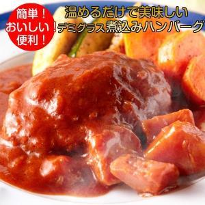 煮込みハンバーグ 野菜入りデミグラスソース 3人前(200g×3) 惣菜 おかず 簡単 うまい 便利|kanaemina