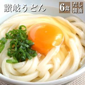 讃岐うどん 6食分(300g×2)特製だし醤油付き 製麺所直送 本場讃岐うどん kanaemina