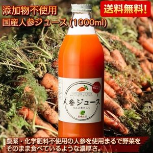 人参ジュース にんじん 野菜ジュース ドリンク 飲料 1L 無添加 国産 1000ml×2本セット kanaemina