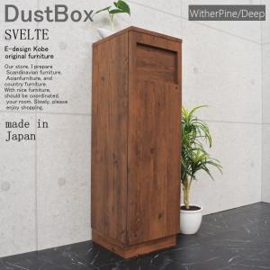 ダストボックス ゴミ箱 スリム おしゃれ 45L 45リットル ごみ箱 ごみばこ 日本製 完成品|kanaemina