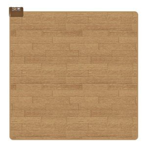 ホットカーペット 2畳用 本体 防水 撥水 フローリング調 176×176cm 床 足元暖房 ライトベージュ|kanaemina