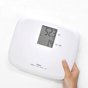 体重計 デジタル コンパクト 小型 ヘルスメーター 増減表示 ドリテック 白 ホワイト|kanaemina