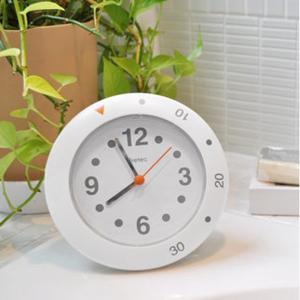 バスクロック お風呂用時計 ホワイト 半身浴クロック 防滴|kanaemina