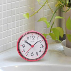 バスクロック お風呂用時計 おふろクロック ピンク 防滴