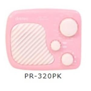 携帯ラジオ AM/FM防滴ラジオ ピンク PR-320PK kanaemina