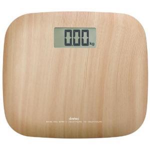 体重計 デジタル おしゃれ 軽量 小型 コンパクト ミニ ヘルスメーター ドリテック ナチュラルウッド kanaemina