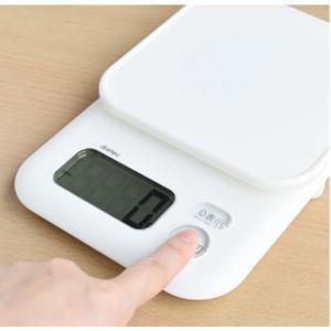 キッチンスケール クッキングスケール 電子はかり デジタル 計量器 料理用 重さ量り 1kg用|kanaemina