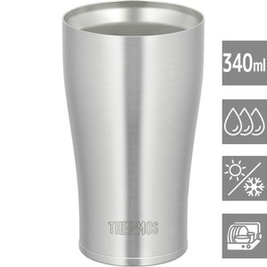 タンブラーグラス グラスコップ ステンレス 保温 保冷 真空断熱 340ml サーモス 2個セット|kanaemina