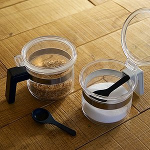 シュガーポット ソルトポット 砂糖 塩容器 パウダーポット biite ビッテ 調味料 透明 クリアー|kanaemina