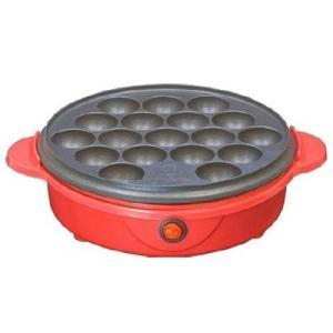 たこ焼き器 タコ焼き器 家庭用 電気 レッド|kanaemina
