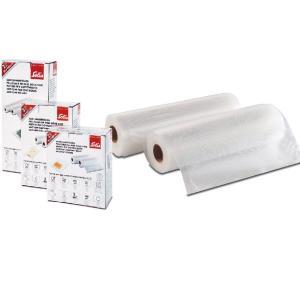 ソリス 真空パック器専用フィルムロール 2本セット 幅20cm×長さ600cm 湯煎 冷蔵 冷凍 電子レンジ対応 SKA92251|kanaemina