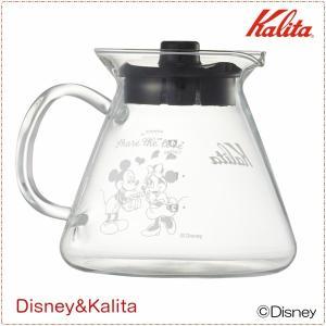 コーヒーサーバー ポット デカンタ 耐熱ガラス製 カリタ&ディズニー ミッキー ミニー 500ml 数量限定|kanaemina