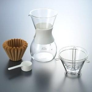 コーヒーメーカー コーヒードリッパーセット カリタ 耐熱ガラス ウェーブスタイル 2〜4人用 kanaemina