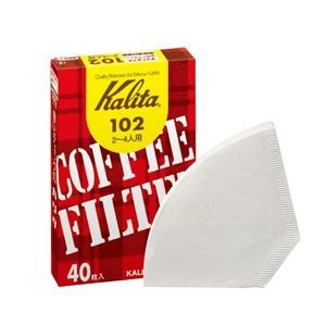 コーヒーフィルター ペーパー カリタ 102 ホワイト(40枚×10個) kanaemina