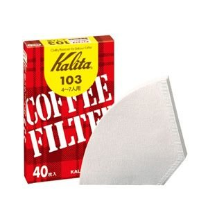 コーヒーフィルター ペーパー カリタ 103 ホワイト(40枚×10個) kanaemina