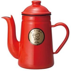 コーヒーポット やかん ドリップケトル ホーロー 琺瑯 おしゃれ カリタ 直火 1.0L 赤 レッド|kanaemina