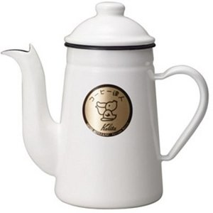 コーヒーポット やかん ドリップケトル ホーロー 琺瑯 おしゃれ カリタ 直火 1.0L 白 ホワイト|kanaemina