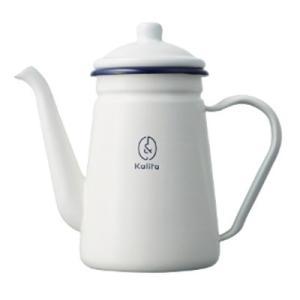 コーヒーポット やかん ドリップケトル ホーロー 琺瑯 おしゃれ サーバー カリタ 1L 白 ホワイト|kanaemina