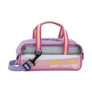 水彩セット用バッグ パステルピンク 単品販売 バッグのみ 絵の具等はつきません kanaemina