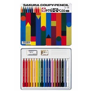 クーピーペンシル 18色 缶ケース入り kanaemina