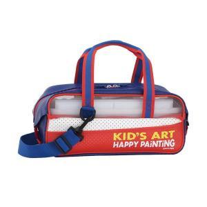 絵の具セット 水彩絵の具 画材セット えのぐセットバッグ 小学生 小学校 男の子 ネイビー kanaemina